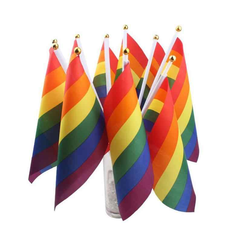 2020 LGBT ตกแต่งธงรุ้งสีสันรายการสำหรับเกย์ Parade Pride เลสเบี้ยนแบนเนอร์หน้าแรกอุปกรณ์ตกแต่ง