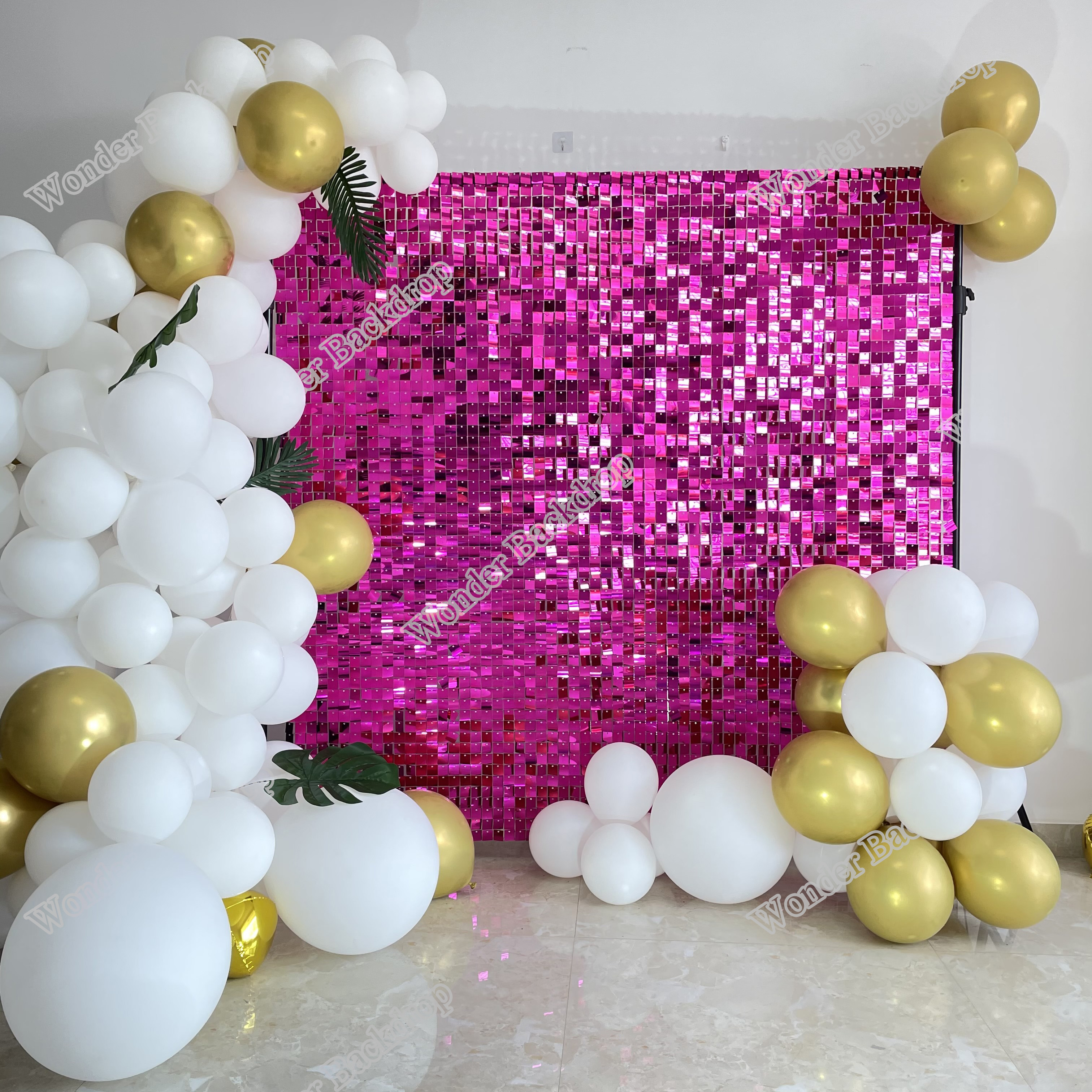 Hot Pink 30cmx30cm Shimmer Sequin Wall For Advertsing Home Decoration Party Event Backdrop Party Backdrops Aliexpress