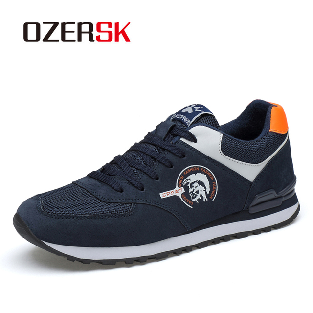 OZERSK 2020 New Causal Breathable Fashion Shoes Classic Flat Male Footwear Comfort Men Shoes Leisure Walking Shoes Mens Sneaker