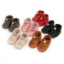 2020 повседневный новорожденный ребенок запястье ходунки мальчик девочка искусственная кожа кожа карман обувь мягкая подошва малыш обувь 0-18 мес.