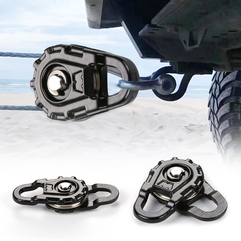 Portable Road SUV Recovery Winch <font><b>Pulley</b></font> Black Snatch Block for Toy <font><b>Car</b></font> RC REDCAT D90 HPI Excellent Craftsmanship Well Durability image