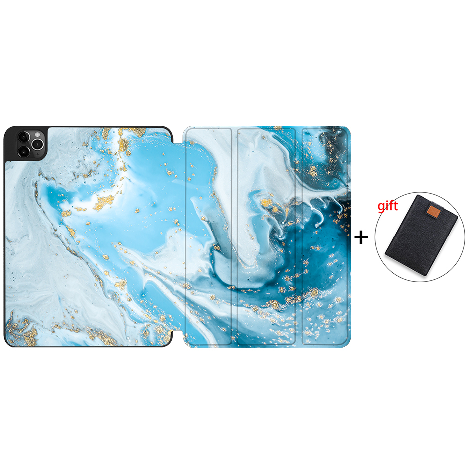 IPTPU14 Brown MTT 2020 Tablet Case For iPad Pro 12 9 4th Gen A2229 A2233 Soft TPU PU