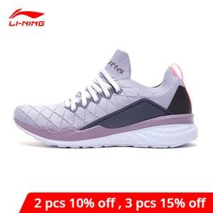 Image 1 - Li Ning Women LN CLOUD Cushion Running Shoes PROBAR LOC Breathable LiNing li ning Sport Shoes Sneakers ARHP074 XYP881