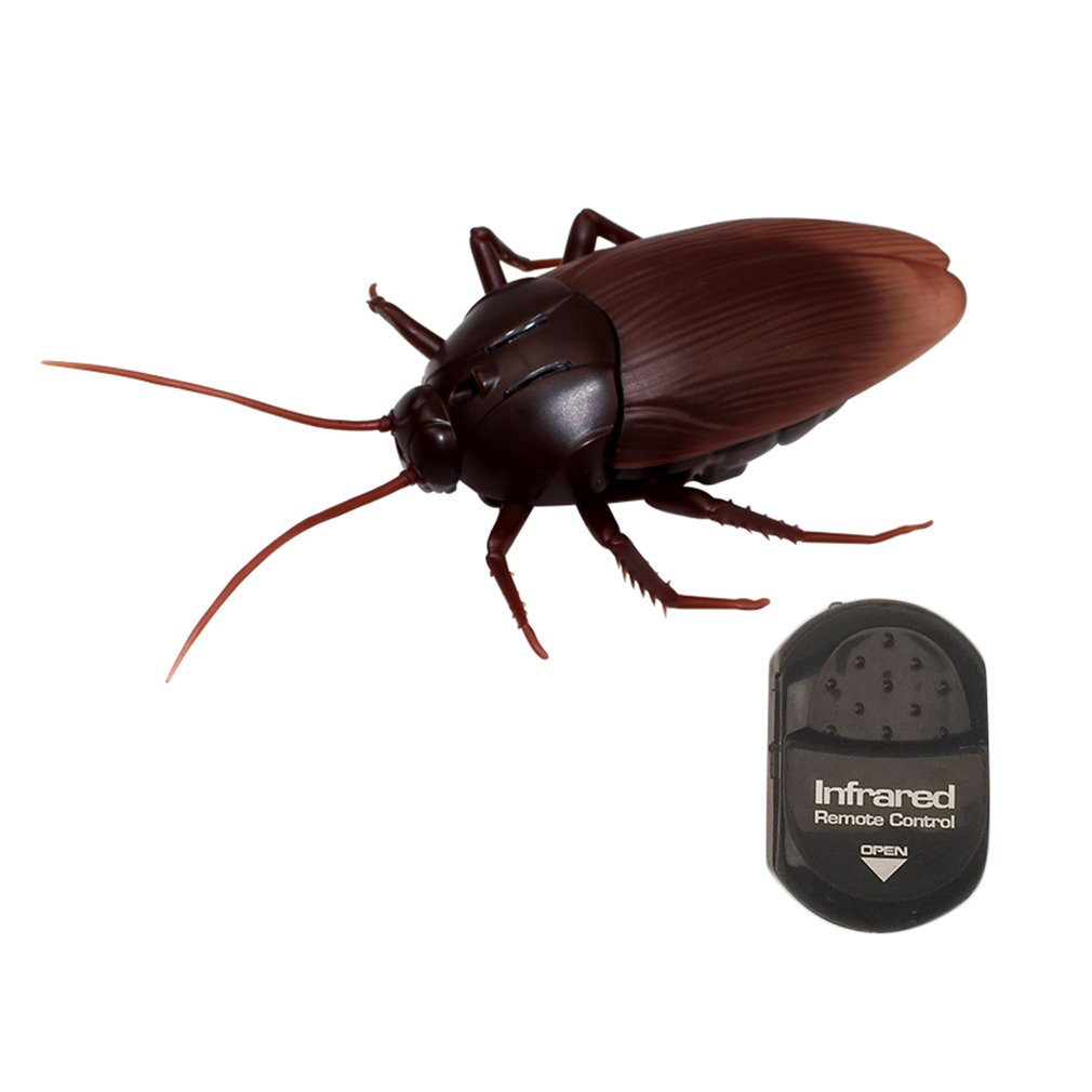 High Simulation Animal Model Luminous Eyes Infrared Remote Control Cockroach Spoof Tricky Toy Funny Scary Prank Toy Hi