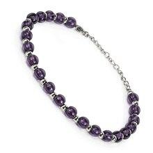 BOFEE Natural Beaded Stone Bracelet Tiger Eye Round String Fashion Jewelry Lava Elasticity Charming Hand Chain Men Women Gift