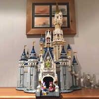 Lepinblocks 16008 przyjaciele kompatybilny 71040 lepining księżniczka Disneys zamek model miejski klocki dziewczyna prezent cegły