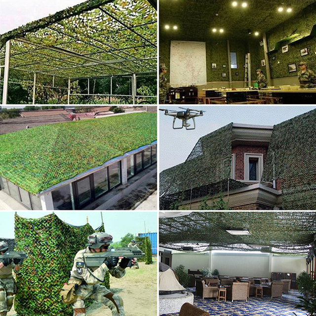 1.5x3m /2x10m Hunting Military Camouflage Nets Woodland Army training Camo netting Car Covers Tent Shade Camping Sun Shelter 6
