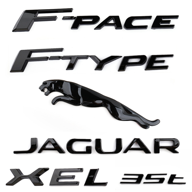 3D Car Sticker 3.0 5.0 V6 V8 XE XF XJL Logo Rear Emblem Decal Accessories For Jaguar XE XF XJL E-PACE F-PACE F-TYPE Car Styling