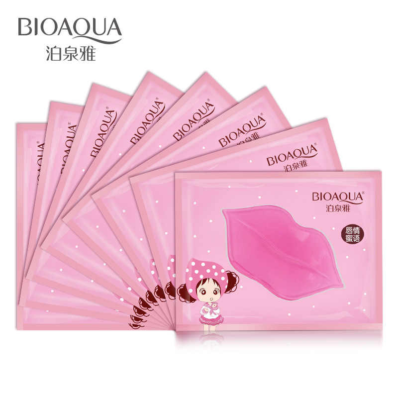 1PCเจลคริสตัลCollagen Moisturizing Lip Facial Mask Hydrating Repairลบเส้นสิวLighten Lip Skin Care MJ3