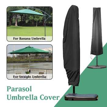Wodoodporny odkryty bananowy Parasol konsolowy osłona przeciwdeszczowa ogrodowa Patio wiatroszczelna osłona przeciwsłoneczna Parasol ochronny tanie i dobre opinie CN (pochodzenie) POLIESTER Parasol Umbrella Cover