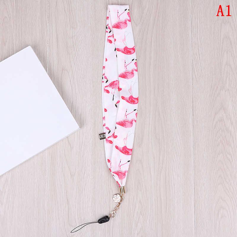 Ponsel Tali Kartun Pita Flamingo Bambu Lanyard Tali Leher untuk Kunci ID Kartu untuk Huawei USB Lencana Pemegang DIY tali Gantung