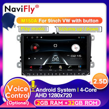 Europeo magazzino Android 9 Controllo Vocale Car Multimedia Radio per Volkswagen golf 5 6 touran passat B6 polo tiguan Skoda(China)
