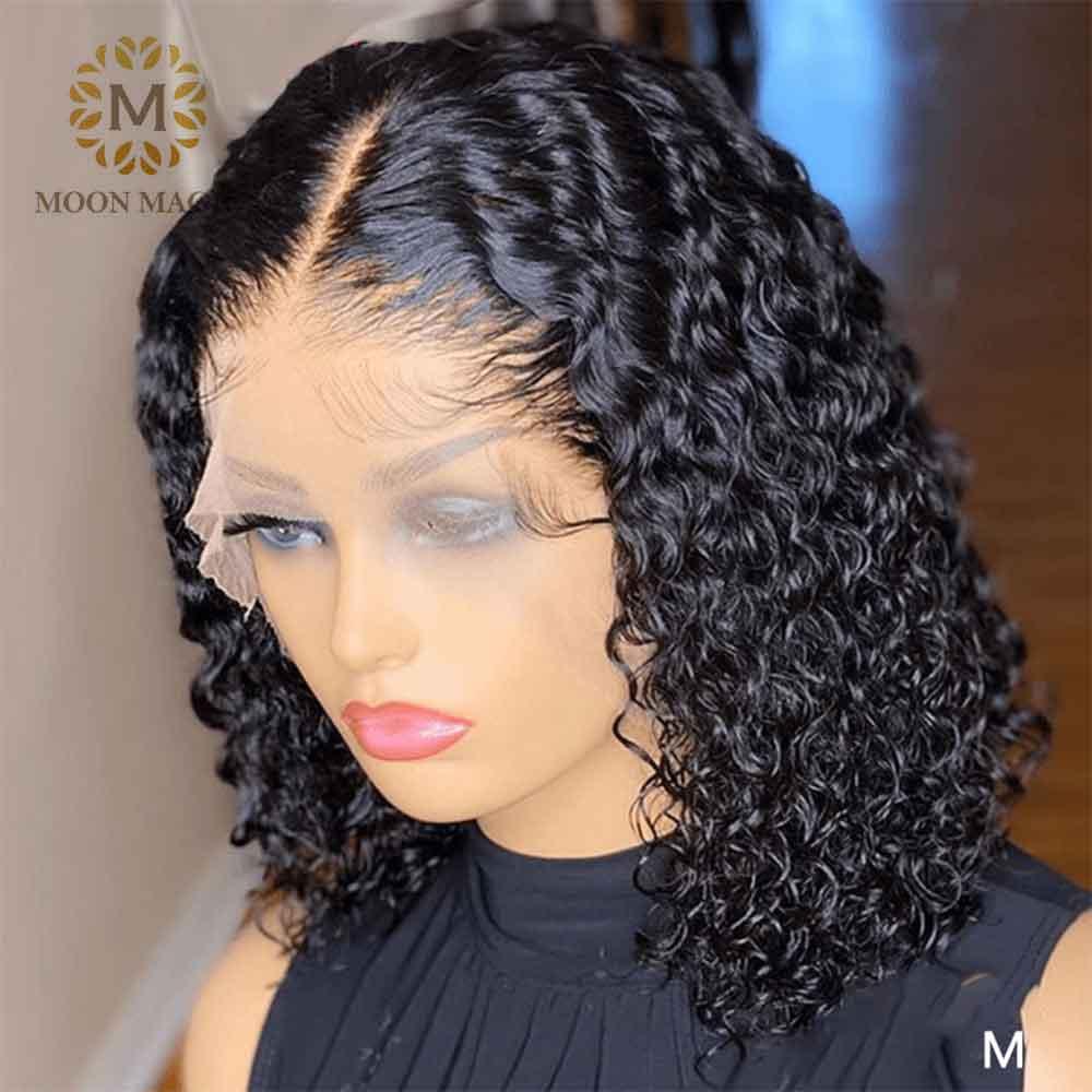 Special Offers Wet And Wavy Human Lace Front Wig List And Get Free Shipping A814