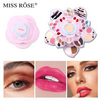 Miss Rose makeup set Pink plum blossom makeup palette face pressed powder with matte eyeshadow christmas gift for girls MS210