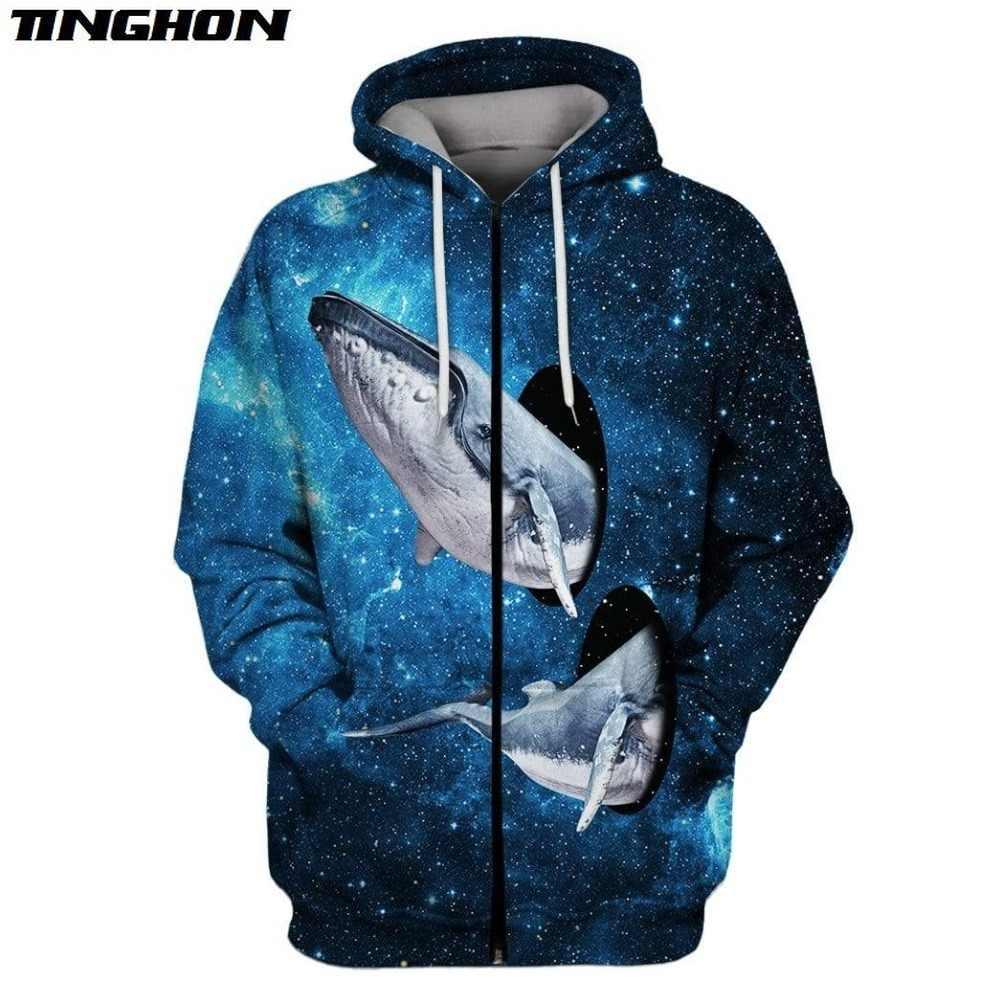 XS-7XL Fashion Pria Hoodies Galaxy Ruang Hewan Hiu Dicetak 3D Sweatshirt Hoodie Cosplay Kostum Unisex Streetwear