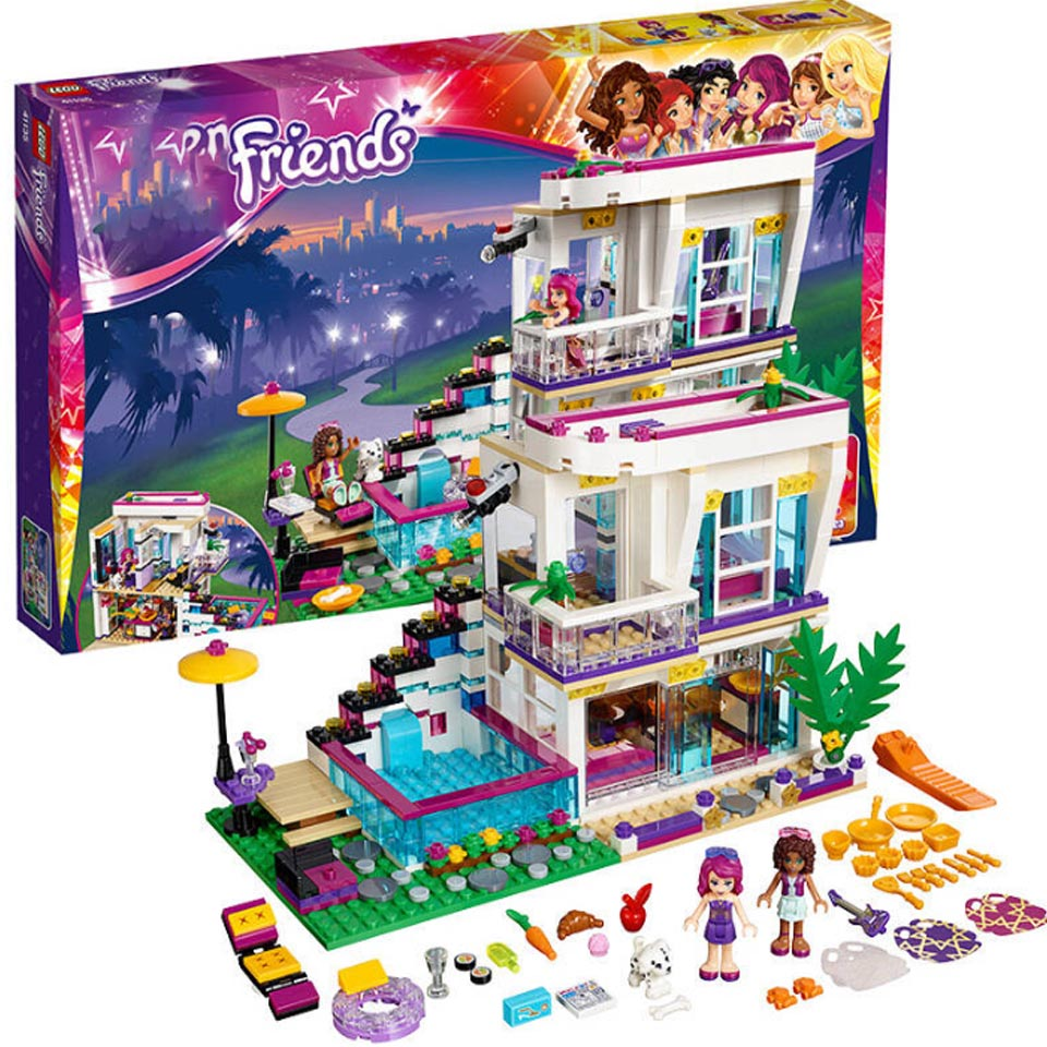760PCS Pop Star Livi's House Building Compatible Lepining Friend For Girls DIY Figures Bricks Educational Toys For Childre image