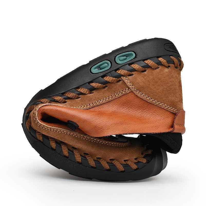 Yeni Moda Erkek Deri rahat ayakkabılar Moccasins erkek mokasen ayakkabıları Marka Spor Ayakkabı Erkek Bot Ayakkabı Açık spor ayakkabıları Büyük Boy 38-48