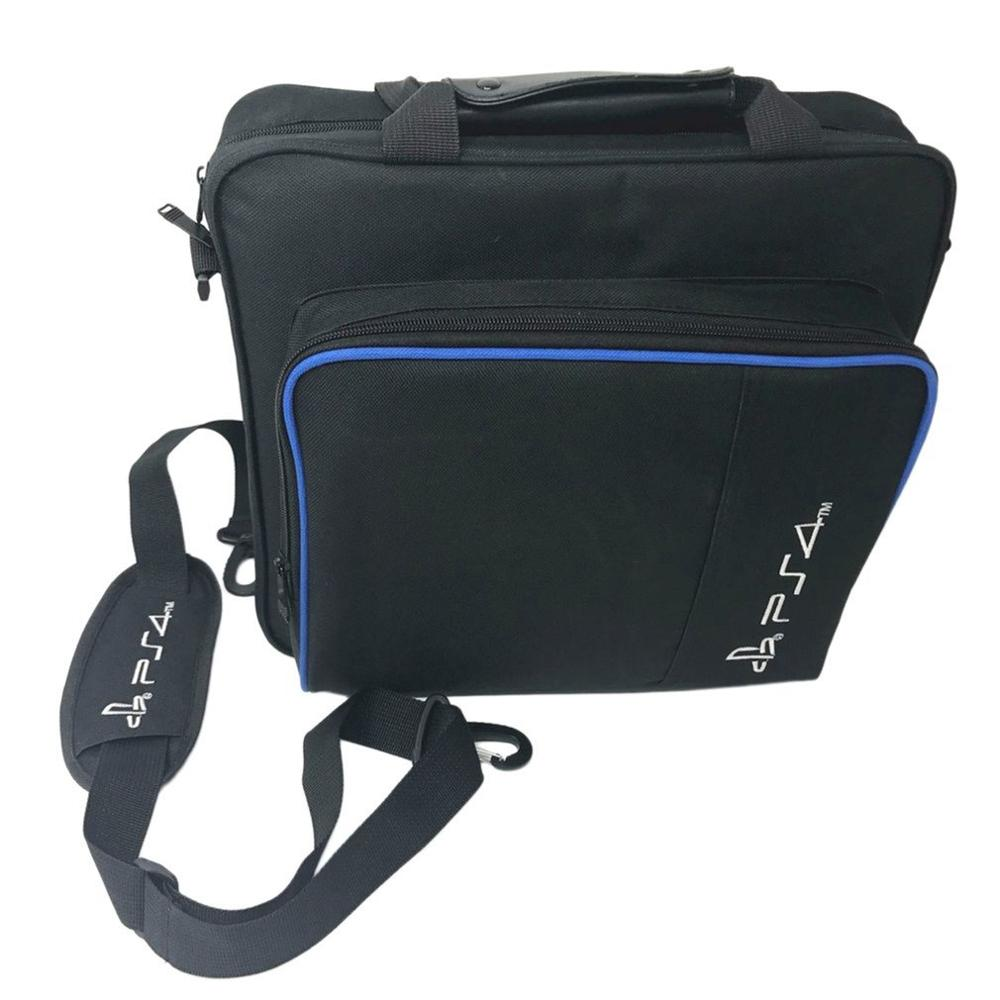 Game Console Storage Bag Shock Proof Waterproof Travel Handbag Shoulder Bag for PS4 Pro Console Accessories Carry Bag image
