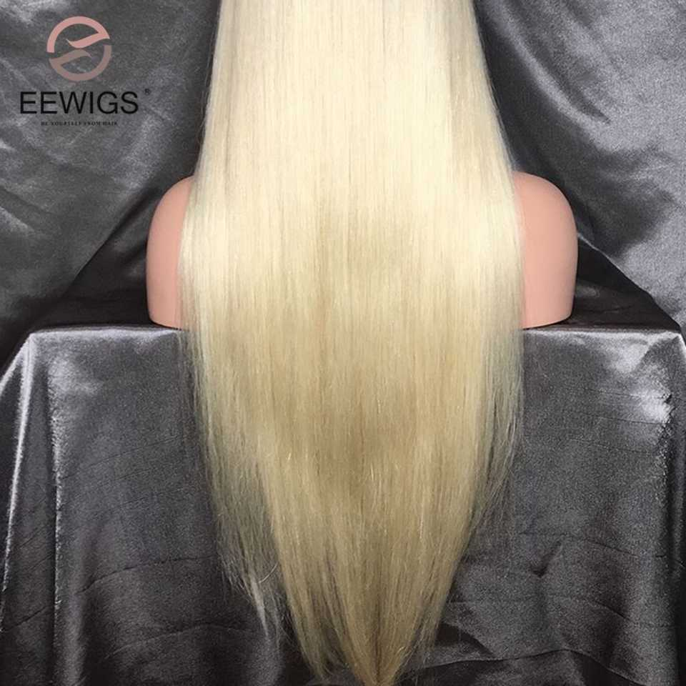 EEWIGS 180% Плотность блонд парик Омбре синтетические волосы на фронте парик с естественным Hairline бесклеевая термостойкие парики для черных женщин