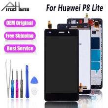 PINZHENG LCD Display For Huawei P8 Lite Touch Screen Replacement Screens For Huawei P8 Lite LCD Display Touch Screen Digitizer ltm190m2 l31 lcd display screens
