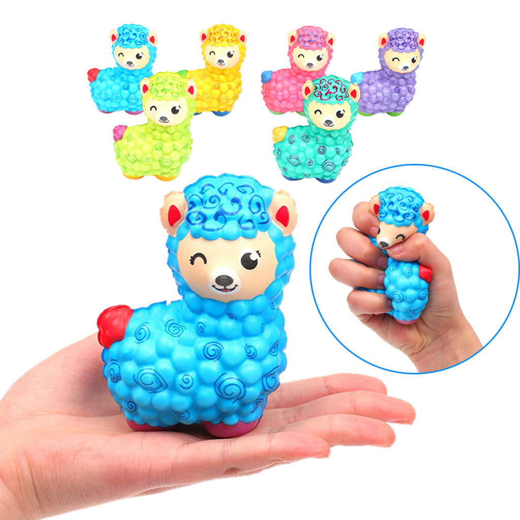 Jumbo Sheep Alpaca Squishies Doll Cute Colorful Slow Rising Toy Animal Scented Exquisite Kids Gift Wholesale