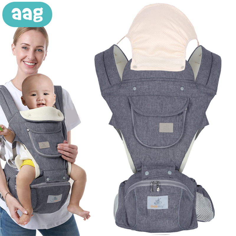 AAG Ergonomic Baby Carrier Sling Backpack Kangaroo Newborn Infant Hipseat Waist Stool Multi-function Baby Carrier Wrap Hip Seat