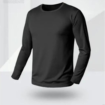 new Quick drying mens long sleeve T-shirt breathable sweat absorption quick t-running outdoor mountain climbing womens