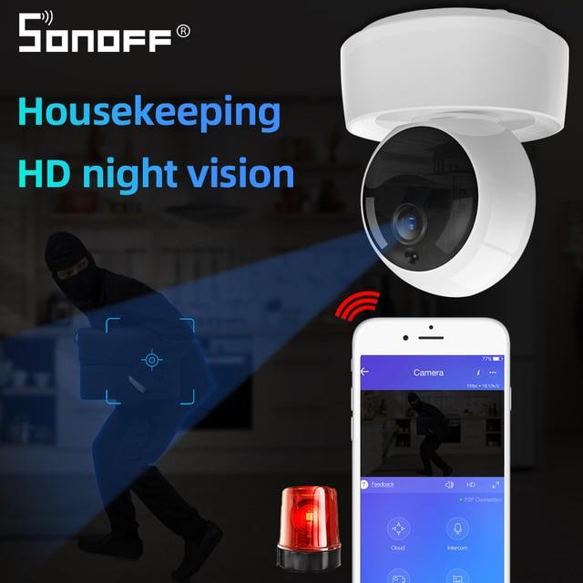 SONOFF GK 200MP2 B 1080P HD Wireless Smart Wifi Camera IP Mini Ewelink 360 IR Baby Monitor Security Alarm work with Google Home