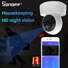 SONOFF GK 200MP2 B 1080P HD kablosuz akıllı Wifi kamera IP Mini Ewelink 360 IR bebek monitörü güvenlik Alarm ile çalışmak google ev