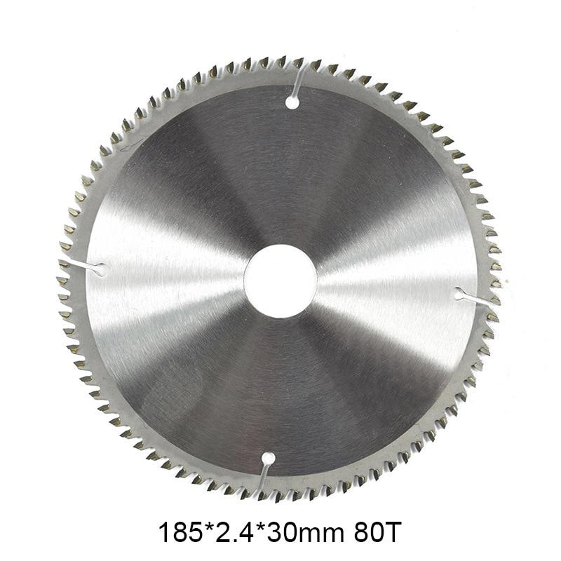185mm Silver TCT Circular Saw Blade For Wood Cutting 80 Teeth  185x2.4x30mm  80T