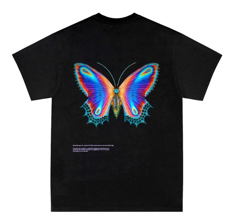 2020 NEW Halsey Multicolor Butterfly 3D Print T Shirt For Men Unisex Oversize O-neck Short Sleeve Kids Women Funny T Shirt