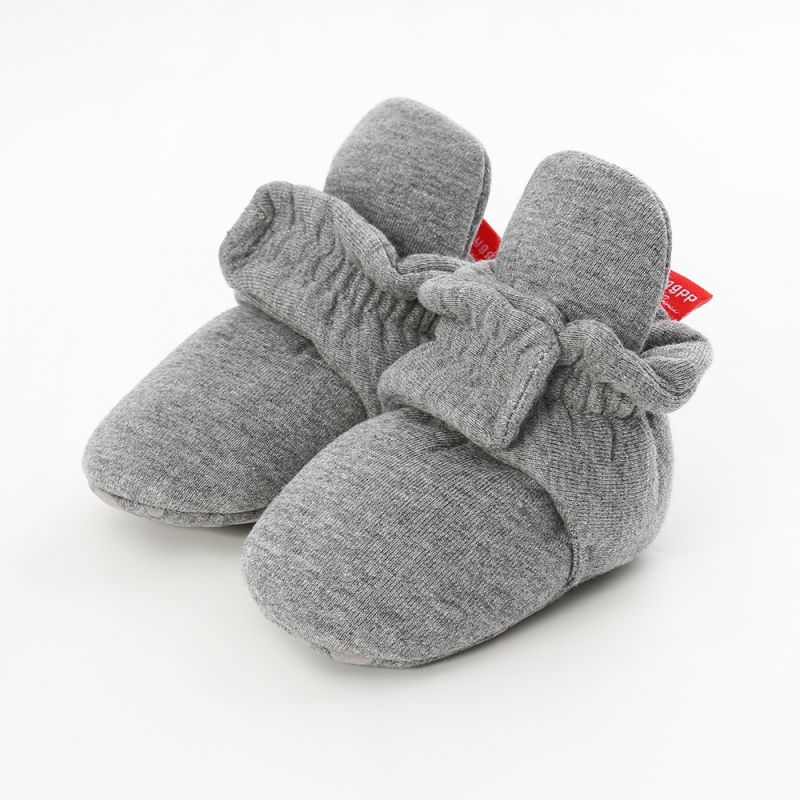 Baby Newborn Socks Shoes Boy Girl Star Toddler First Walkers Booties Cotton Comfort Soft Anti-slip Warm Infant Crib Shoes