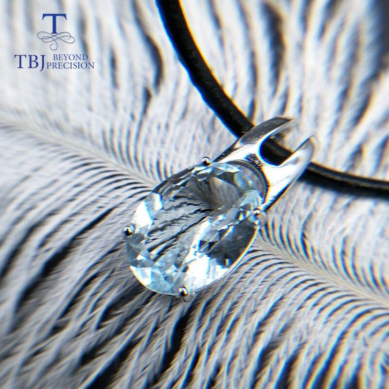 TBJ, 100% acquamarina naturale incidere pendenti con corda, corda collana, speciale di taglio acquamarina pendente con il contenitore di regalo-in Ciondoli da Gioielli e accessori su  Gruppo 1