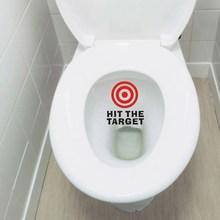 Hit The Target Waterproof Funny Toilet Sticker Bathroom Personality Toilet Seat Sign Reminder Quote Boys Potty Training(China)