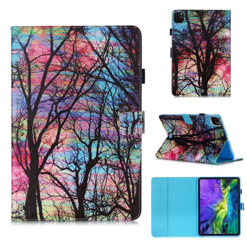 For 2020 iPad Funda Stand Tablet Case Pro Flowers Wallet Owl 11 Coque Cover Tablet For