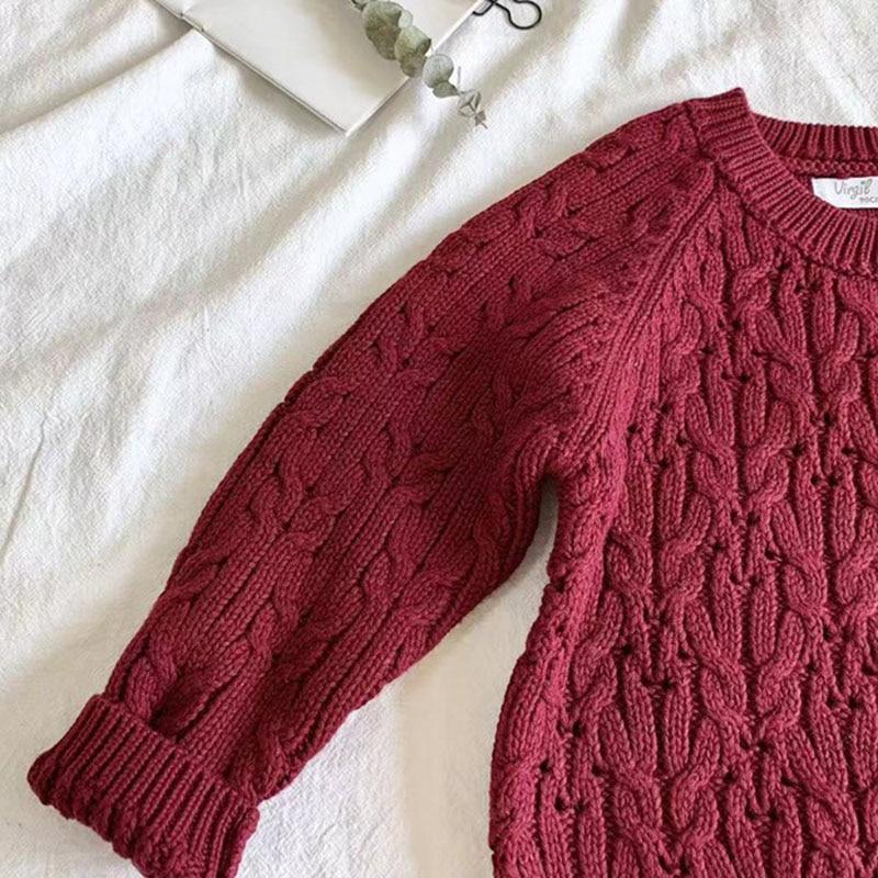 Autumn Winter Baby Kids Boys Long Sleeve Knit Sweater Baby Kids Boys Pure Color Pullover Sweaters Children's Clothes 5