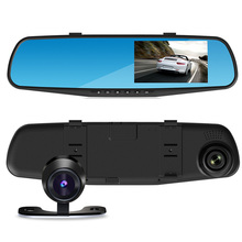 4.3 Inch 1080P HD Car DVR Camera Mirror 170 Degree Wide Angle Car Driving Recorder Rear View Mirror Video Recorder Auto Dash Cam 4 inch 1080p full hd car dvr dash camera 170 degree wide angle video recorder with rear view camera g sensor auto driving camera