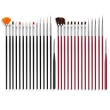 Hook-Line-Pen Painting-Brush Stationery 2-Colors Nylon Plastic for Multi-Function 15pcs/Set