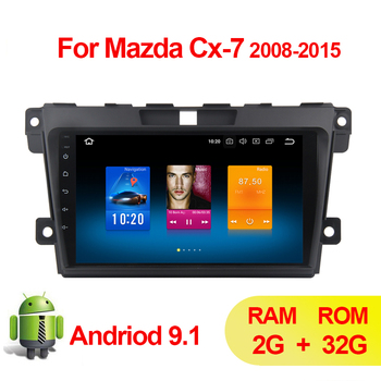 2 din 9 Android 9.1 Car GPS Navigation Radio Multimedia Player For 2007 2008 2009 2010 2011-2014 MAZDA CX-7 cx7 cx 7 Autoradio image
