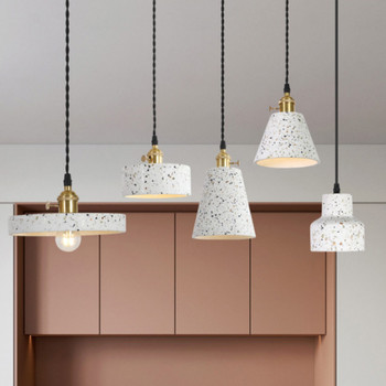 Vintage Nordic industrial style restaurant pendant lamp creative personality bar home hanging light cement pendant lights  WJ429