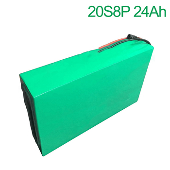 72V 24Ah 20S8P 18650 Li-ion Battery electric two Three wheeled motorcycle bicycle  ebike 310*200*70mm