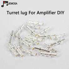 DIY Project Turret lug Audio Tag Board Turret Board Terminal Board For Tube Amplifier DIY Kit Copper Plated Silver Turret