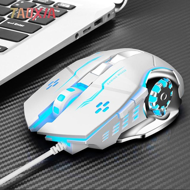 AULA الألعاب ماوس دعم جميع مفاتيح قابلة للبرمجة DPI قابل للتعديل البصرية E-الرياضة ماوس كتم مريح 3200 ديسيبل متوحد الخواص LED مضيئة الفم