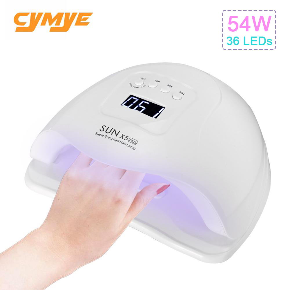 Cymye sun X5 plus <font><b>UV</b></font> <font><b>LED</b></font> <font><b>lamp</b></font> for nails dryer image