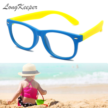 롱 키퍼 키즈 빈티지 UV400 스펙타클 라운드 안경 프레임 컴퓨터 게임 클리어 렌즈 안티 uv 안티 블루 라이트 리벳 안경