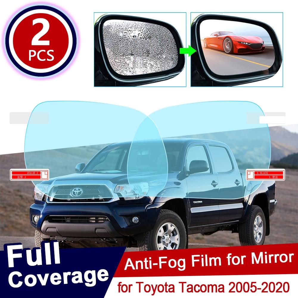 Для Toyota Tacoma 2005 ~ 2020 TRD полное покрытие противотуманная пленка для зеркала заднего вида непромокаемая противотуманная пленка аксессуары 2014 ...