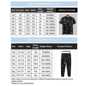 Image 5 - Sommer Mann Kleidung Set 2 Zwei Stück Top und Hosen 2019 Trainingsanzug Männer Sets T Shirt Plus Größe 6XL 7XL 8XL 9XL Sport Herren Camiseta