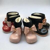 طفلة احذية المطر الطفل الأطفال الثلوج زائد المخملية الدافئة القوس احذية المطر الأزياء أحذية من المطاط الأطفال هلام أحذية-في أحذية برقبة طويلة من الأمهات والأطفال على