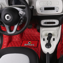 Auto teppich boden matte anti schmutz matte PU Leder fuß pad Für Mercedes Smart Fortwo Forfour Coupe 453car styling pedal Nicht slip matte