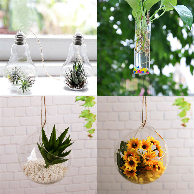 Hanging Glass Terrarium Container and Flower Plant Pot for Party/Wedding Decor
